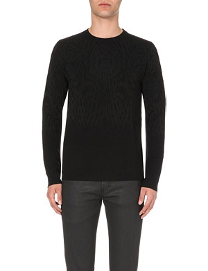 JUST CAVALLI Patterned knitted jumper