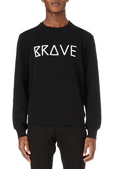 HUNTER GATHER Brave-print sweatshirt