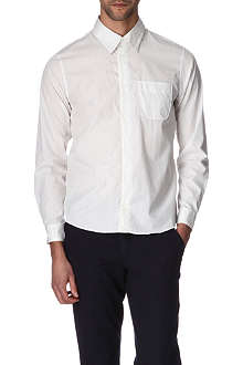 A.P.C. Pinstripe piped single cuff shirt