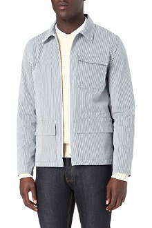 A.P.C. Striped worker jacket