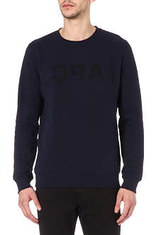 A.P.C. Reflected logo sweatshirt