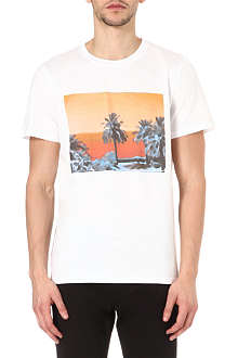 A.P.C. Sunset panel t-shirt