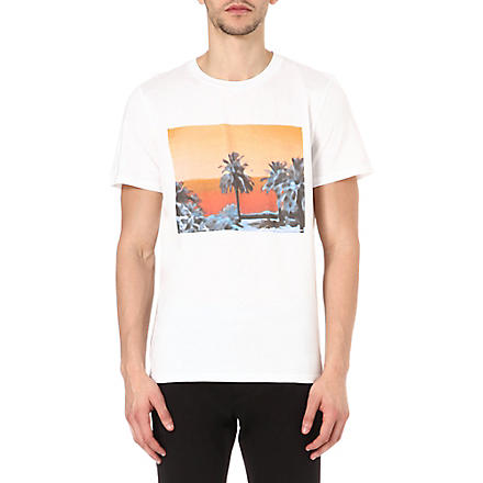 A.P.C. Sunset panel t-shirt (Blanc