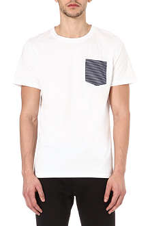 A.P.C. Striped pocket t-shirt