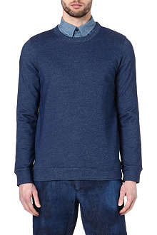 A.P.C. Denim-marl sweatshirt