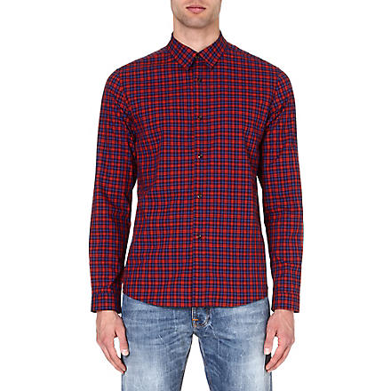 A.P.C. Mike checked shirt (Red