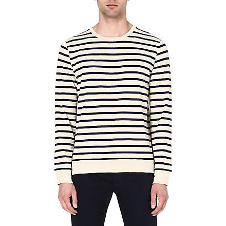 A.P.C. Nautical sweatshirt (Cream/navy