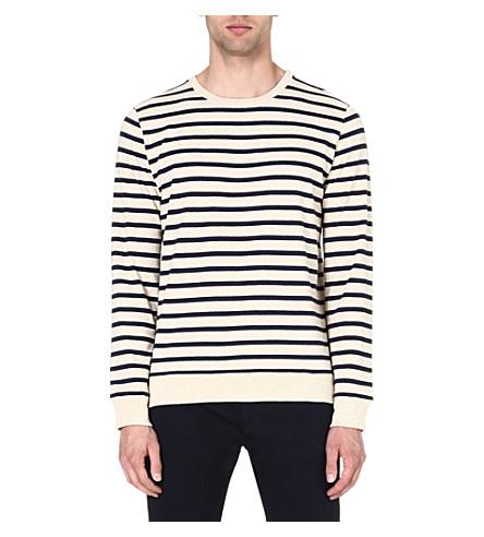 A.P.C. Nautical sweatshirt (Cream/navy