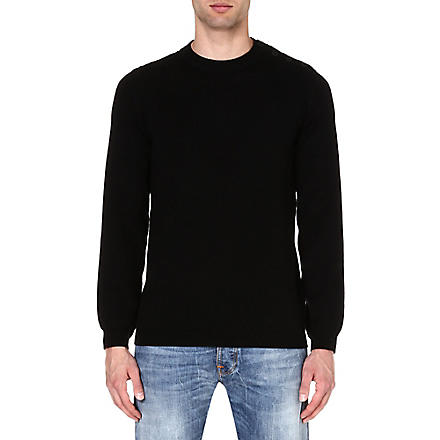 A.P.C. Button-shoulder jumper (Black