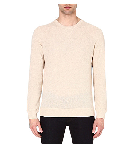 A.P.C. Textured sweatshirt (Beige