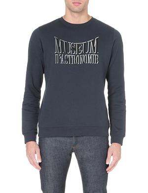 A.P.C. Museum D'Astronomie cotton-jersey sweatshirt