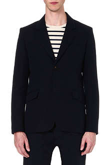 A.P.C. Single-breasted linen-blend blazer