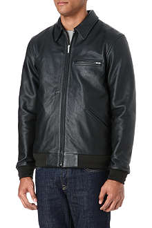 A.P.C. Carhartt Detroit leather jacket