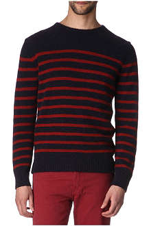 A.P.C. Striped camel jumper