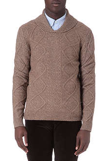 A.P.C. Irish shawl-neck jumper