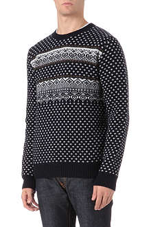 A.P.C. Fair Isle merino wool jumper
