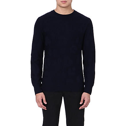 A.P.C. Camouflage knitted jumper (Navy