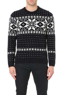 A.P.C. Yeti jaquard knitted jumper