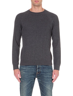 A.P.C. Ribbed-knit wool jumper