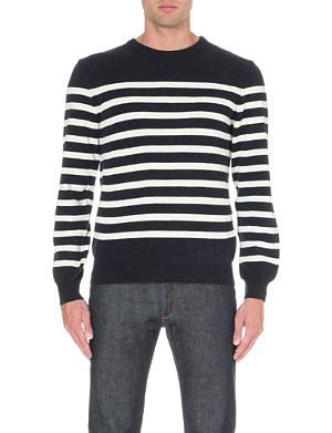 A.P.C. Breton-stripe wool and cashmere-blend jumper