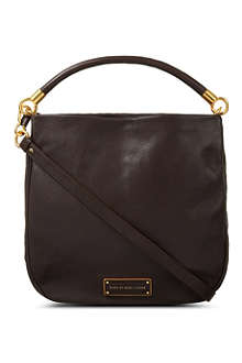 MARC BY MARC JACOBS Carob leather hobo bag
