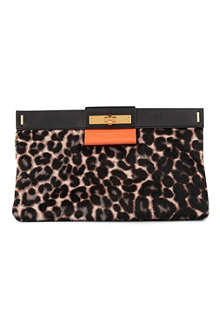 MARC BY MARC JACOBS East End Leo Lady Rei calf-hair clutch