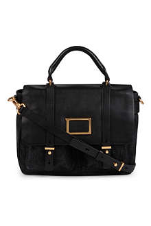 MARC BY MARC JACOBS Werdie denim and leather satchel