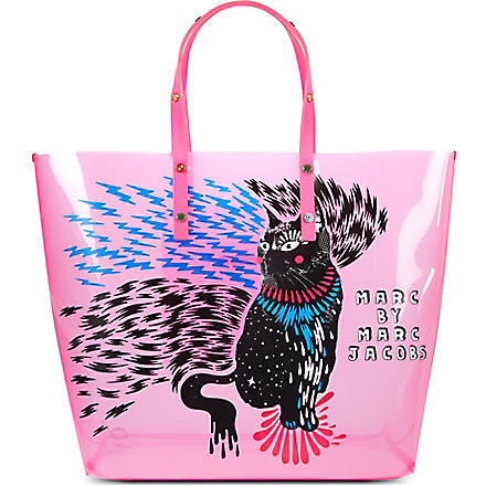 MARC BY MARC JACOBS Clear animal tote (Pop pink (rue)
