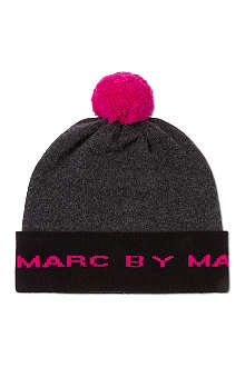 MARC BY MARC JACOBS Logo wool bobble hat