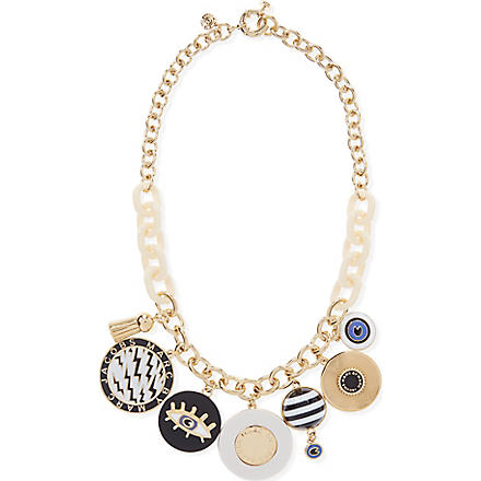 MARC BY MARC JACOBS Dynamite charm necklace (Black/cream (oro)
