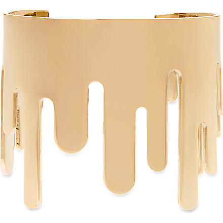 MARC BY MARC JACOBS Dynamite drippy metal cuff (Oro