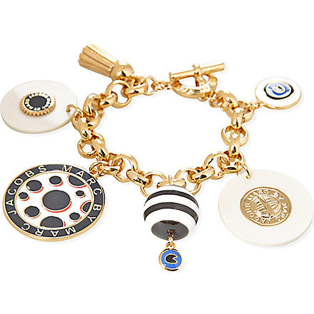 MARC BY MARC JACOBS Dynamite charm bracelet (Black/cream (oro)