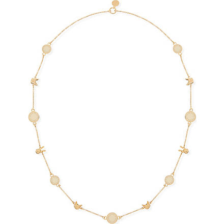 MARC BY MARC JACOBS Classic animals long necklace (Cream+(oro)