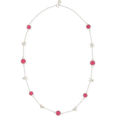 MARC BY MARC JACOBS Classic animals long necklace (Pop pink (argento)