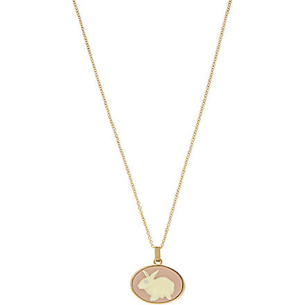MARC BY MARC JACOBS Cameo animals pendant necklace (Light pink/cream (oro)