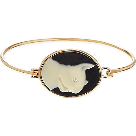 MARC BY MARC JACOBS Cameo animals olive cuff (Black/cream (oro)