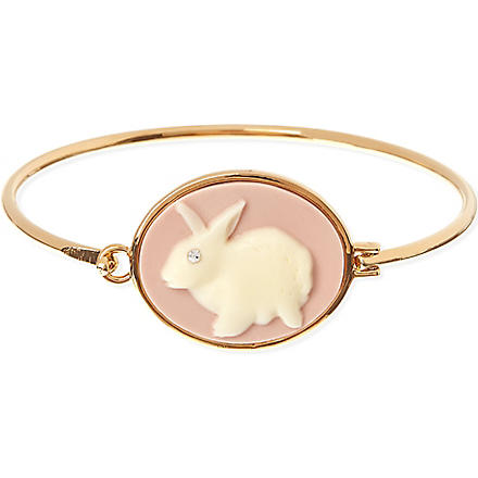MARC BY MARC JACOBS Cameo animals bunny cuff (Light pink/cream (oro)