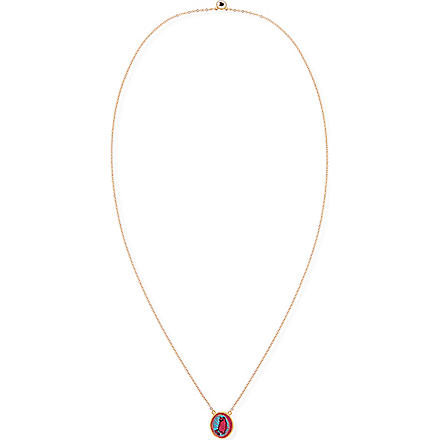 MARC BY MARC JACOBS Felt Rue Icon pendant necklace (Pop pink multi (oro)