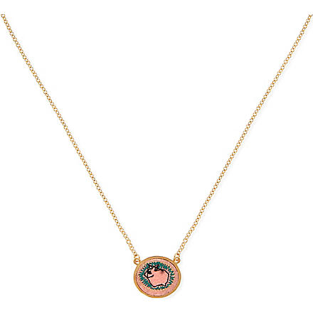 MARC BY MARC JACOBS Felt Bunny Icon pendant necklace (Rouge multi (oro)