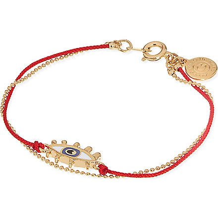 MARC BY MARC JACOBS Enamel eye friendship bracelet (Macintosh apple red (oro