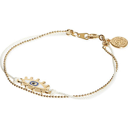 MARC BY MARC JACOBS Enamel eye friendship bracelet (Cream (oro)