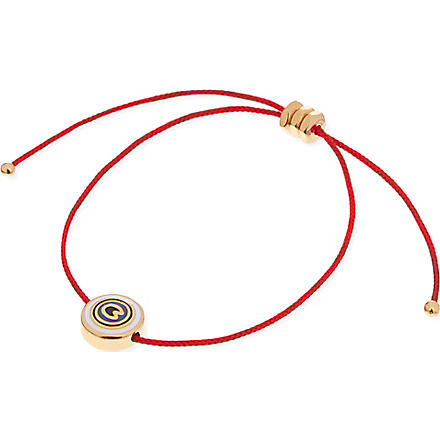 MARC BY MARC JACOBS Eye friendship bracelet (Macintosh apple red (oro