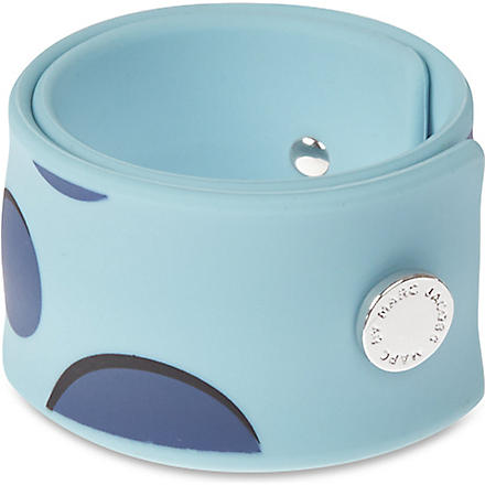 MARC BY MARC JACOBS Polka-dot slap bracelet (Mist+multi+(argento)