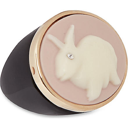 MARC BY MARC JACOBS Cameo Bunny ring (Light pink/cream (oro)