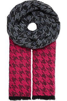 MARC BY MARC JACOBS Terence houndstooth wool-blend scarf