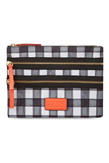 MARC BY MARC JACOBS Domo Arigato checked pouchette