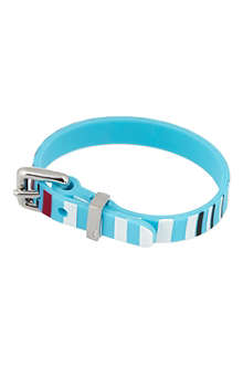 MARC BY MARC JACOBS Striped rubber bracelet