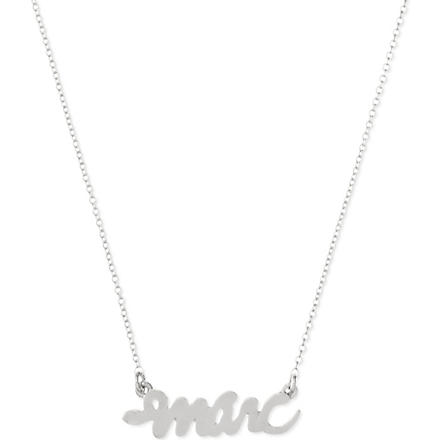 MARC BY MARC JACOBS Script snake necklace (Argento