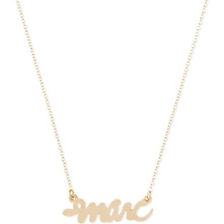 MARC BY MARC JACOBS Script snake necklace (Oro