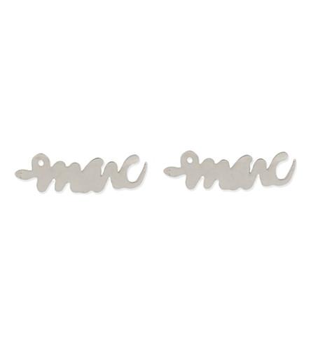 MARC BY MARC JACOBS Script snake stud earrings (Argento